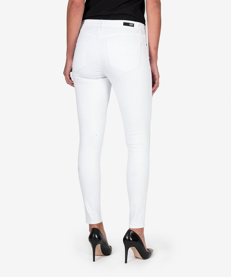 KUT from the Kloth | Mia High Rise Slim Fit in Optic White
