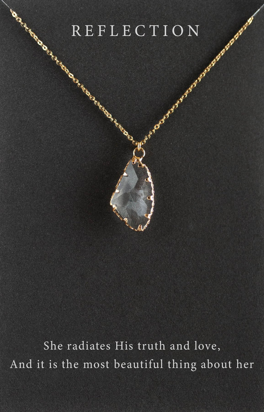 "Reflection Gold 18"" Necklace"