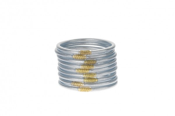 BuDhaGirl All Weather Set of (9) Silver Bangles™ (AWB™)
