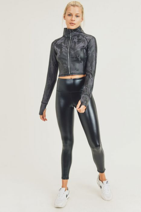 Glossy Black Liquid Highwaist Leggings