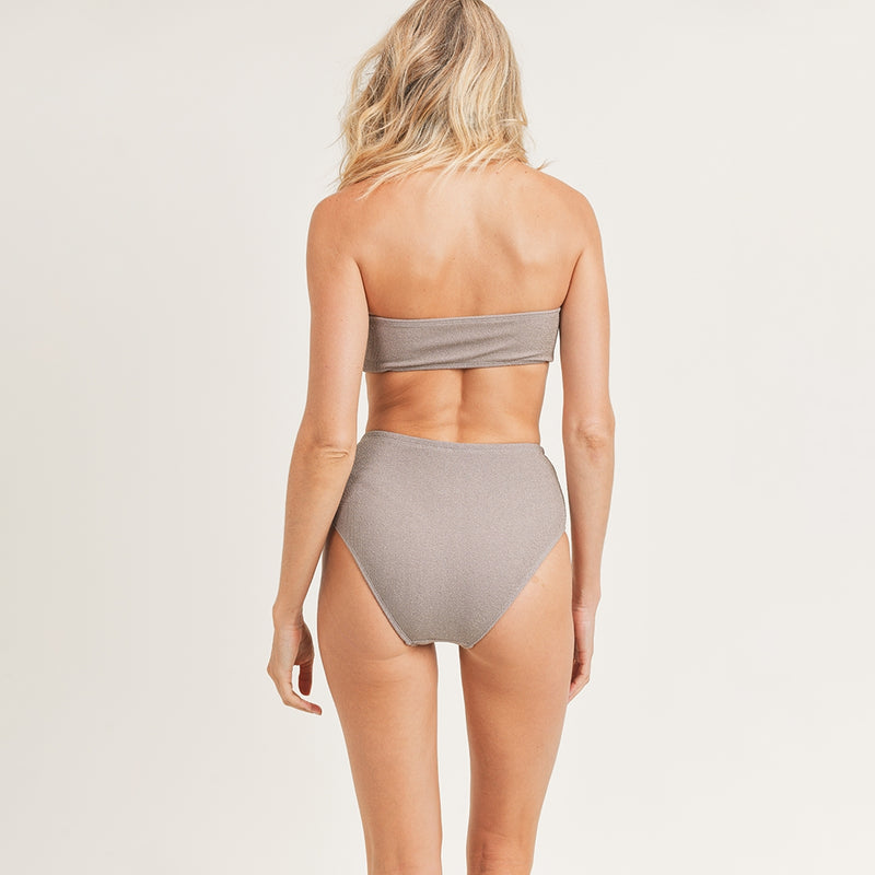 Lux Ribbed Metallic Swimsuit