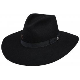 Charlie 1 Horse Highway Black Wool Hat