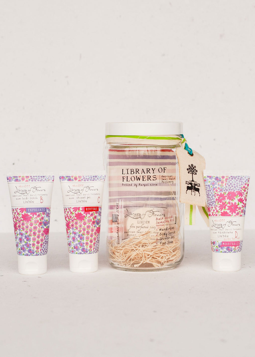 LIBRARY OF FLOWERS | Linden Bath Goods Sampling Kit