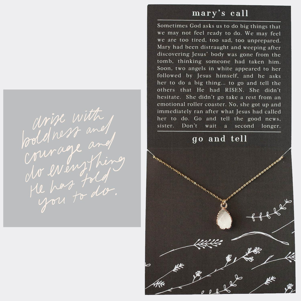 Der Heart Designs Mary's Call Gold Necklace