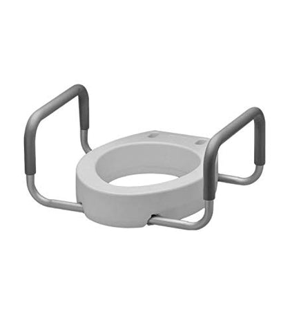 Raised Toilet Seat with Arms - Raised Toilet Seat with Padded Arms for Handicapped - Medical Handicap Bathroom Safety Chair