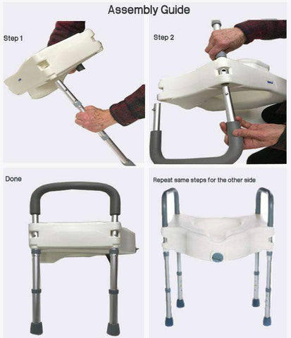MOBB Healthcare Raised Toilet Seat with Legs