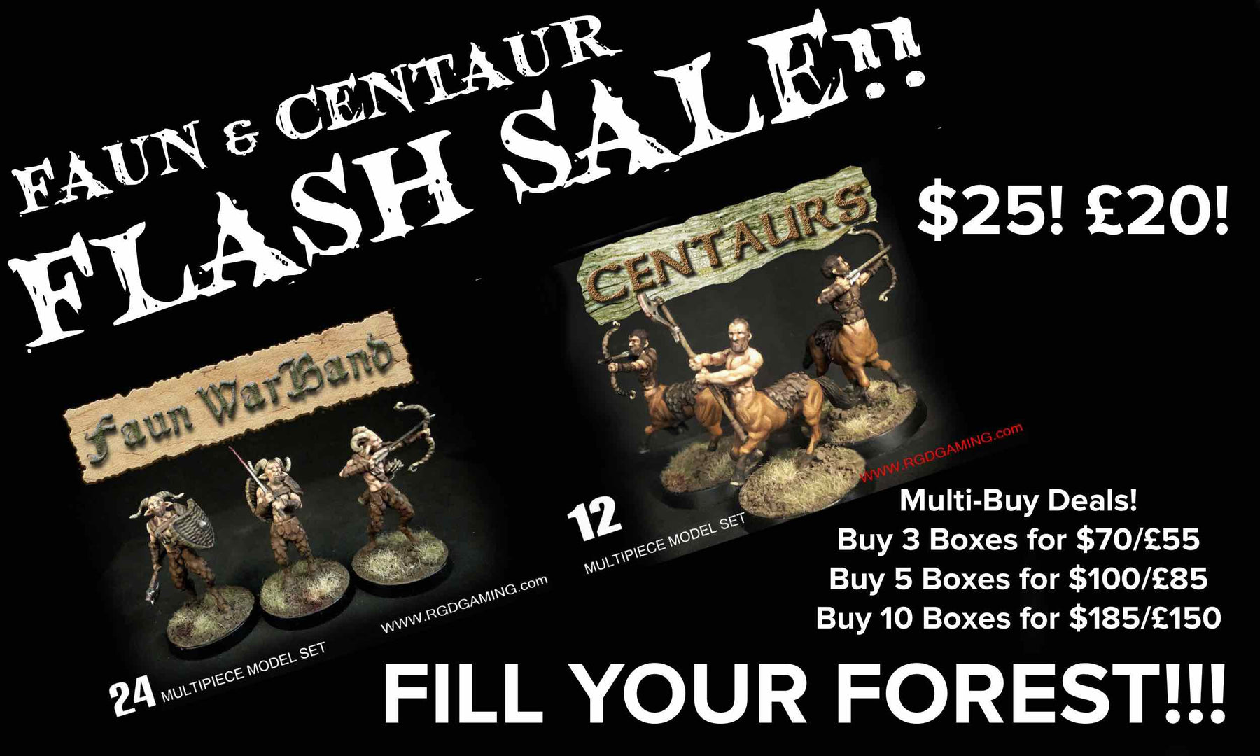 Flash Sale! RGD Fauns and Centaurs!