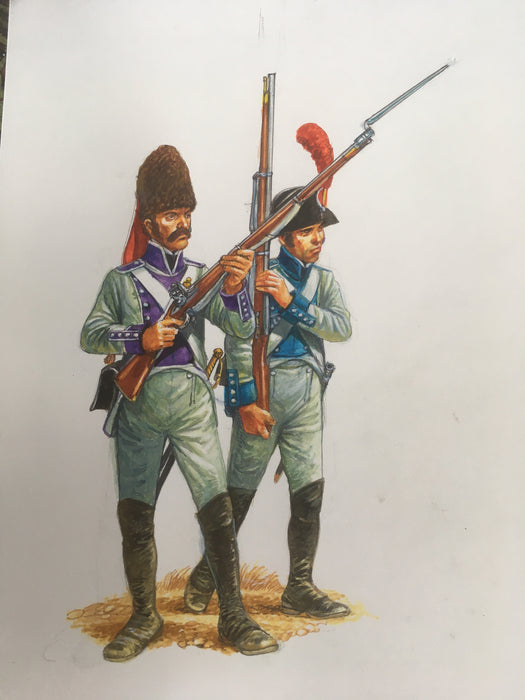 Napoleonic Spanish Artwork in from Peter Dennis