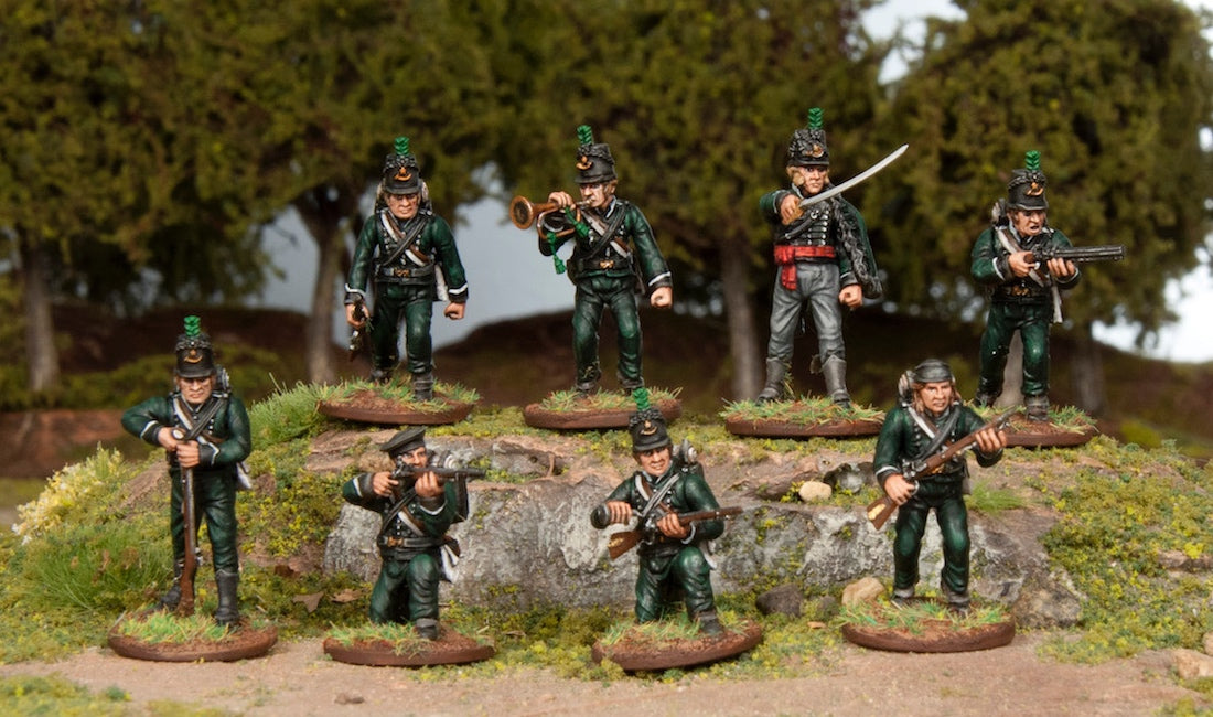 British Riflemen Ready to Take the Field