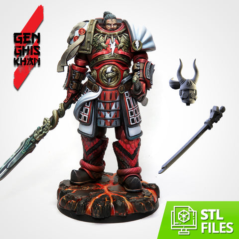Genghis Khan 75mm Scale (STL FILES)