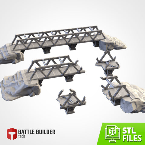 Metallic Bridges (STL FILES)