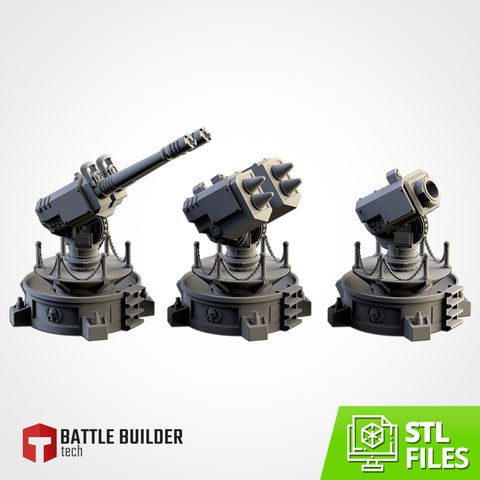 Anti-aircraft weapons (STL FILES)