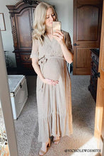Load image into Gallery viewer, Amber Modest Dress | Dark Taupe