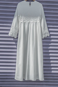White Daffodil Dress - ModWhite / White LDS Temple Dresses