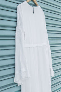 White Periwinkle Dress - ModWhite / White LDS Temple Dresses
