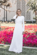 Load image into Gallery viewer, White Lily Dress - ModWhite / White LDS Temple Dresses