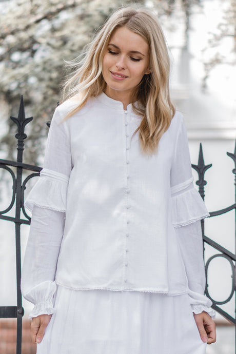 White Orchid Blouse