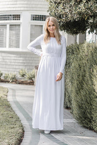 White Angelonia Dress