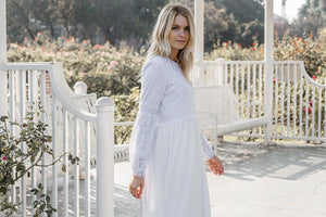 White Begonia Dress