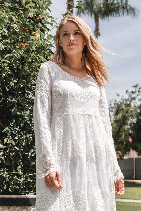 White Azalea Dress