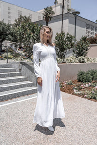 White Daisy Dress - ModWhite / White LDS Temple Dresses