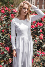 Load image into Gallery viewer, White Petunia Dress