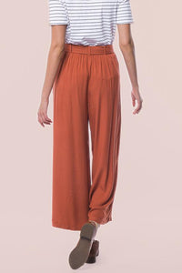 Jessie Relaxed Fit Bottoms | Rust