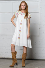 Load image into Gallery viewer, Emily Embroidered Dress | White
