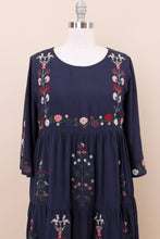 Load image into Gallery viewer, Zoe Embroidered Dress | Navy
