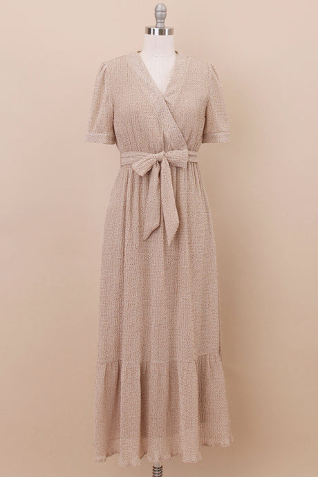 The Amber Modest Dress | Dark Taupe