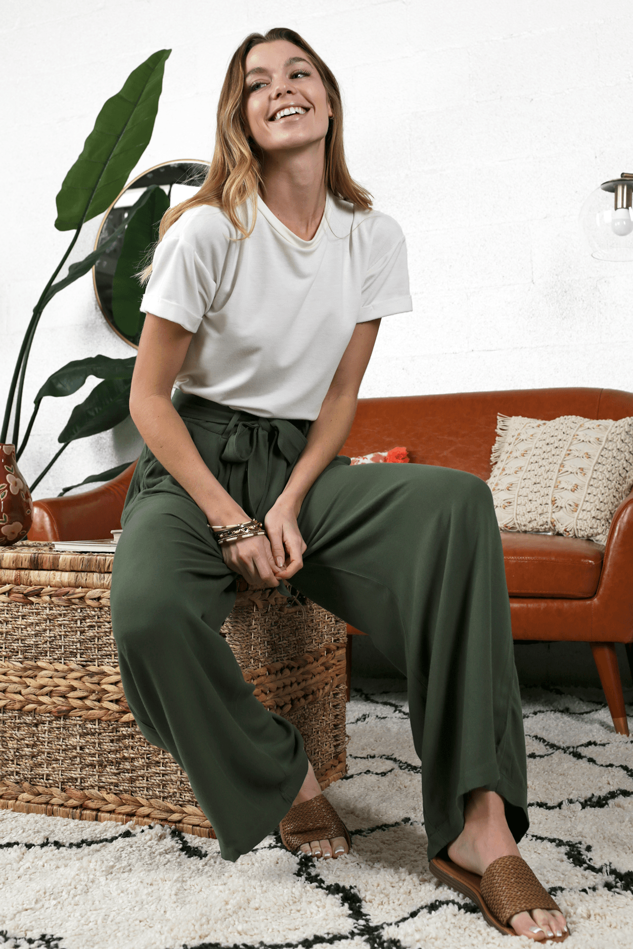 Jessie Relaxed Fit Bottoms | Dark Olive