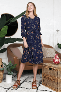 Midnight Floral Dress