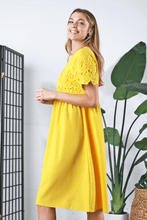 Load image into Gallery viewer, Peony Modest Dress | Yellow