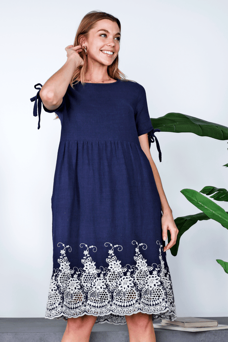Lila Midi Dress | Navy