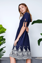 Load image into Gallery viewer, Lila Midi Dress | Navy