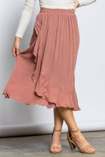 Load image into Gallery viewer, Hibiscus Ruffle Wrap Skirt