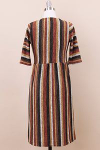 Faye Modest Dress | Mustard Multi