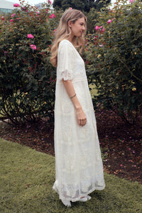 The Bellflower Modest Dress | Oatmeal