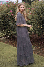 Load image into Gallery viewer, Bellflower Modest Dress | Charcoal