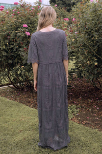 Bellflower Modest Dress | Charcoal