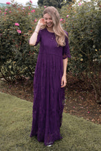 Load image into Gallery viewer, Safflower Modest Dress | Plum