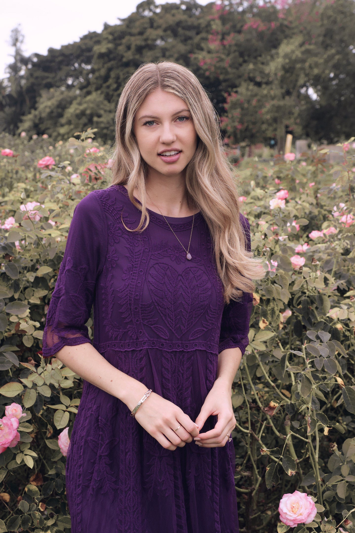 The Safflower Modest Dress | Plum