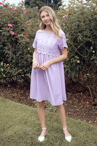 The Peony Modest Dress | Lavender