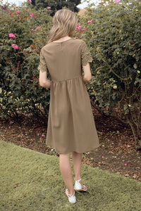 The Peony Modest Dress | Olive