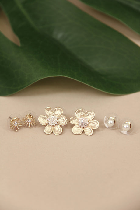 Faith Flower Earring Set