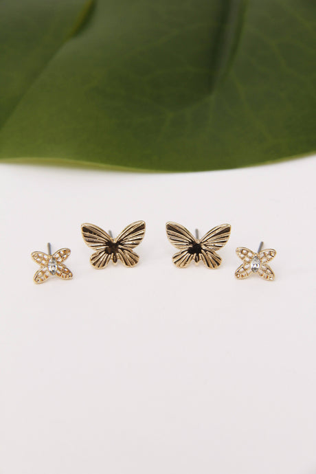 Woodland Butterfly Earring Set