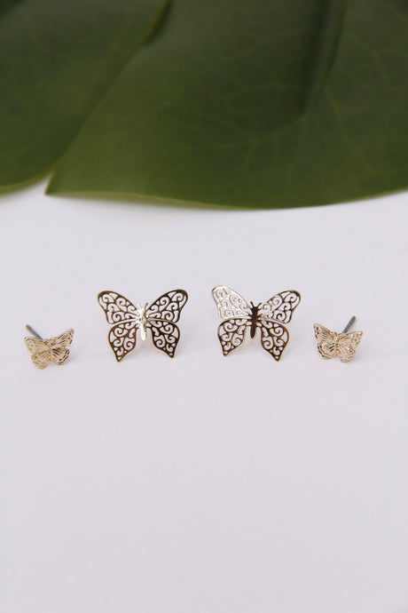 Monarch Butterfly Earring Set