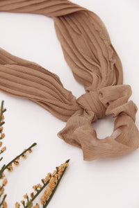 Pleated Scarf Scrunchie