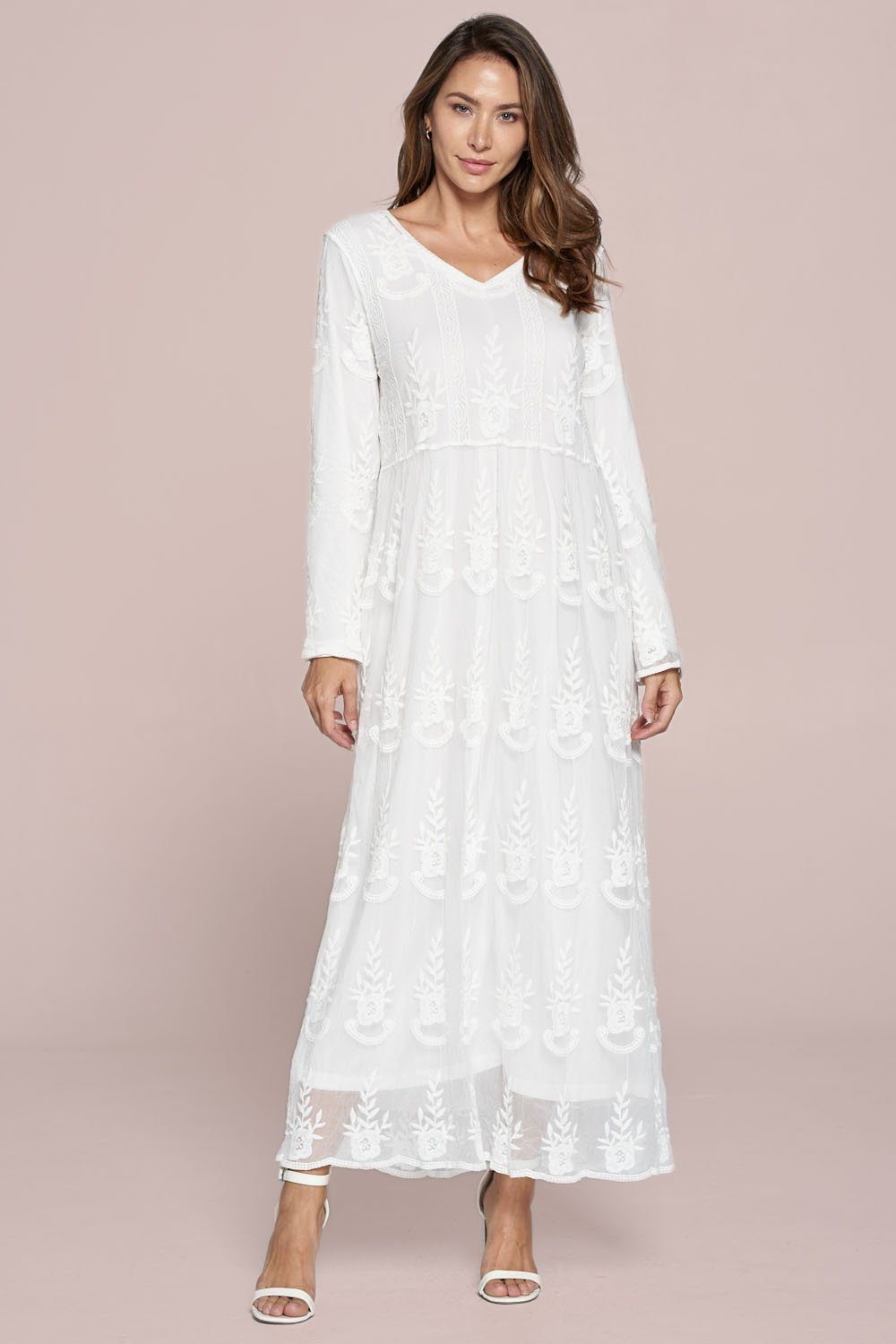 White Amaranth Dress