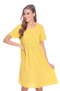 The Peony Modest Dress | Yellow